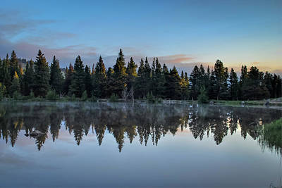 Photograph - Smoke On The Water - Rocky Mountain National Park by Gregory Ballos