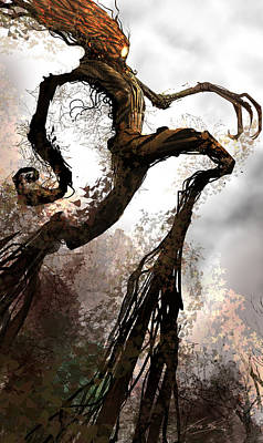 Digital Art - Treeman by Alex Ruiz