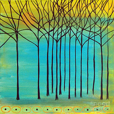 Painting - Trees 030115 by Lee Owenby