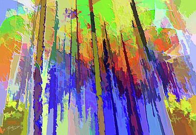 Mixed Media - Trees Abstract by Rosalie Scanlon