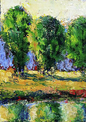 Painting - Trees Across The River by Monique Montney