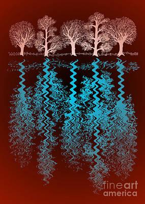 Popular Mixed Media - The Trees by Alan Hogan