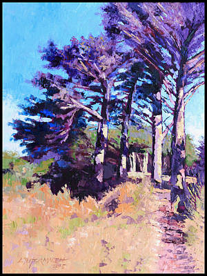 Painting - Trees Along The Trail by John Lautermilch