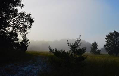 Photograph - Trees And Prairie Fog by Warren Thompson