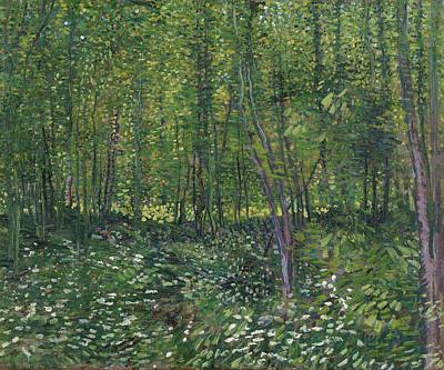 Painting - Trees And Undergrowth Paris, July 1887 Vincent Van Gogh 1853  1890 by Artistic Panda