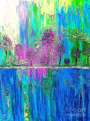 Painting - Trees And Water by Saundra Myles