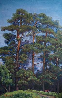 Russianartist Painting - Trees by Anna Shurakova