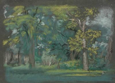 Pastel - Trees by Arthur Bowen Davies