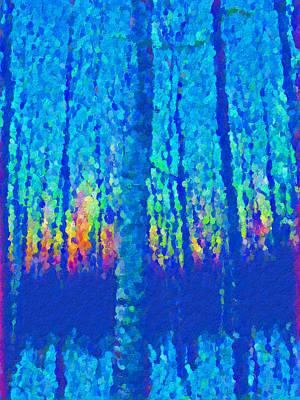 Trees At Dusk Art Print