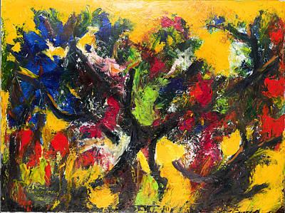 Trees At Sunset Art Print by Ali Hammoud