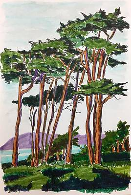 Painting - Trees At The Beach by Masha Batkova