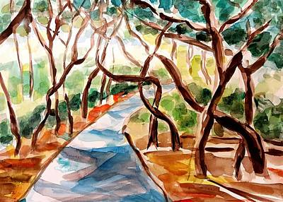 Painting - Trees At The Park by Hae Kim