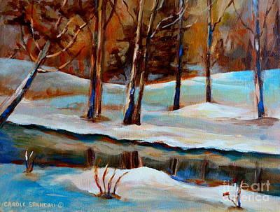 Trees At The Rivers Edge Art Print by Carole Spandau