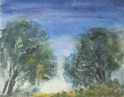 Painting - Trees At Twilight by Wendy Le Ber