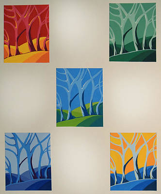 Painting - Trees by Emily Maynard