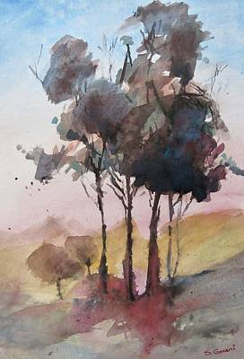 Painting - Trees by Geni Gorani