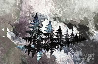 Digital Art - Trees by Geraldine DeBoer