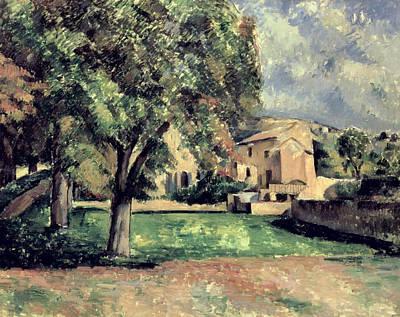 Trees In A Park Art Print by Paul Cezanne