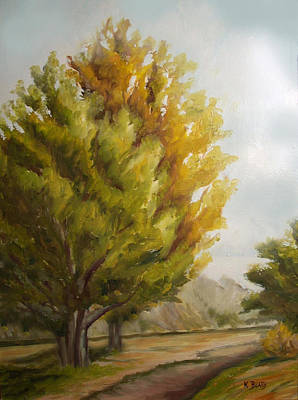 Trees In Boulder Art Print by Karla Beatty
