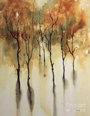 Painting - Trees In Fall by Barbara Tibbets