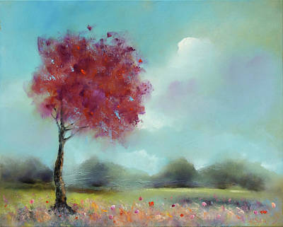 Trees In Highlight With Mist Original by Robert Selkirk