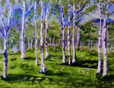 Painting - Trees In The Meadow by Shelley Bain