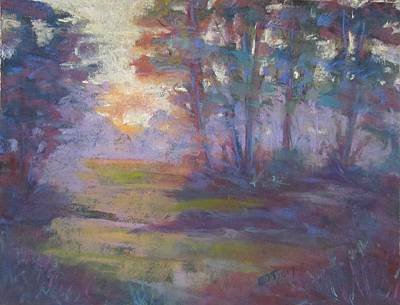 Pastel - Trees In The Mist by Barbara O'Toole