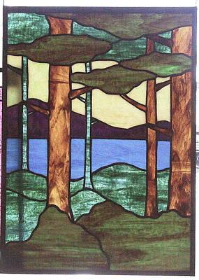 Glass Art - Trees by Jane Croteau