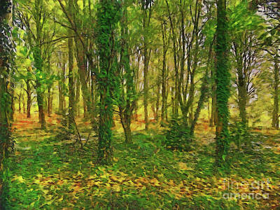Digital Art - Trees by Leigh Kemp