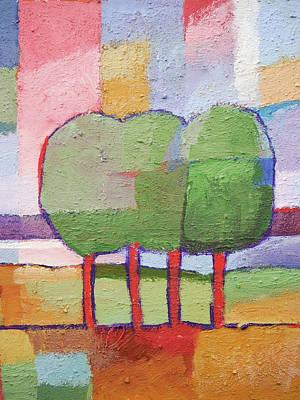Painting - Trees by Lutz Baar