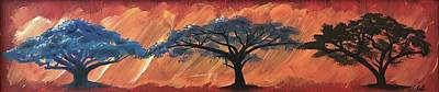 Painting - Trees Of Africa by Sean Ivy aka Afro Art Ivy