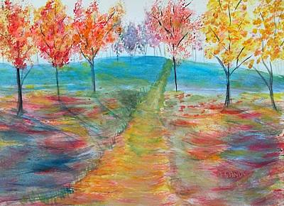 Painting - Trees Of Autumn by Anne Sands