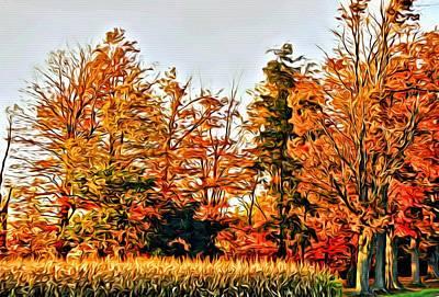 Trees Of Fall 2 Art Print by Rhonda Barrett