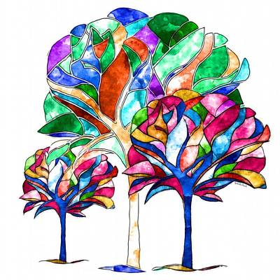 Painting - Trees Of Hope by Gabriella Weninger - David
