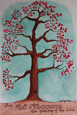 Trees Of Righteousness Illustration Art Print by Amy Parker Evans