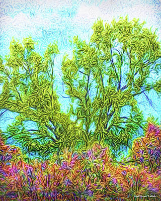 Digital Art - Trees Of Springtime Shining by Joel Bruce Wallach