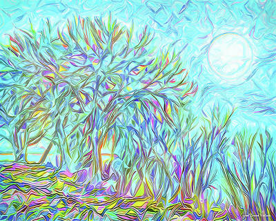 Digital Art - Trees Of The Indigo Moon - Boulder County Colorado by Joel Bruce Wallach