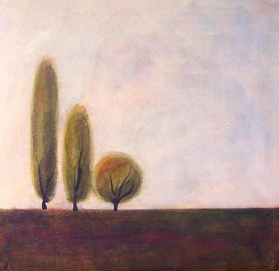 Trees Of Tuscany 2 Art Print by Victoria Heryet