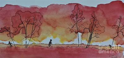 Quebec Mixed Media - Trees On Fire by Lise PICHE