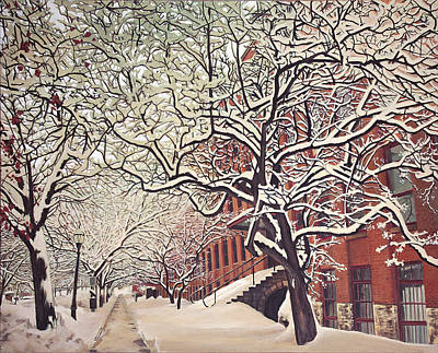 Painting - Trees On Franklin by Maria Rizzo