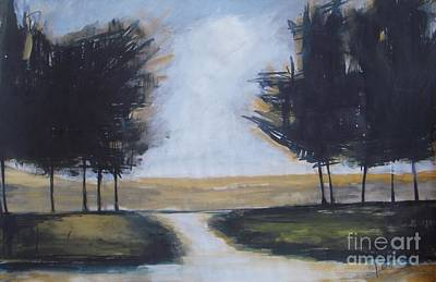 Painting - Trees On Rural Road 2 by Vesna Antic