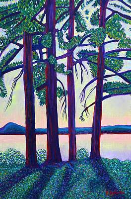 Painting - Trees On The Point by Polly Castor