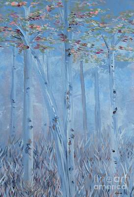 Delicate Painting - Trees Tall And Lovely by Eloise Schneider