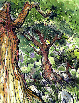 Painting - Trees by Terry Banderas