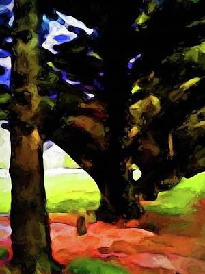 Digital Art - Trees With Black Branches by Jackie VanO
