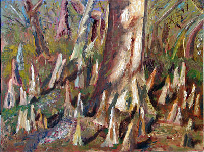 Painting - Trees With Knees by Libby  Cagle