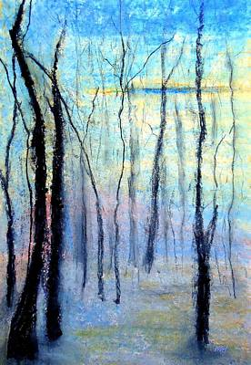 Drawing - Treescape - Evening by VIVA Anderson