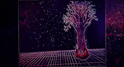Space Drawing - Treetitle by Christopher Cannon