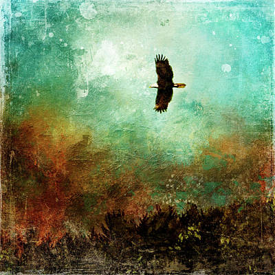 Treetop Eagle Flight Art Print