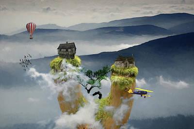 Digital Art - Treetop Mountain Real Estate Presents by John Haldane